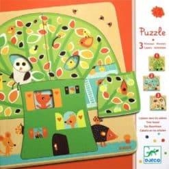 Djeco 3 Lagen Puzzel Boomhuis