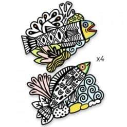 Djeco Fluweelkleurplaten Vissen