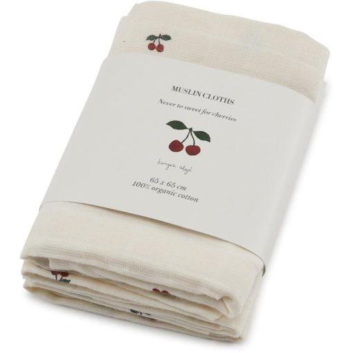 Konges Slojd Hydrofiele doeken Cherry - 3 pack