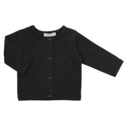 Phil & Phae Raw-edged baby cardigan Charcoal