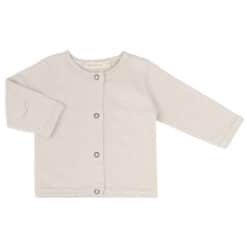 Phil & Phae Raw-edged baby cardigan Oatmeal