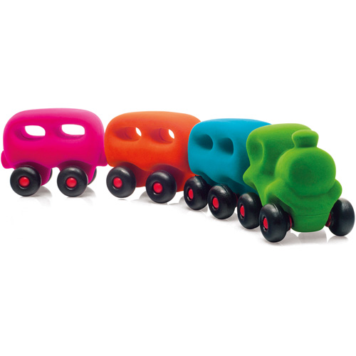 Rubbabu Trein met 3 wagonnetjes