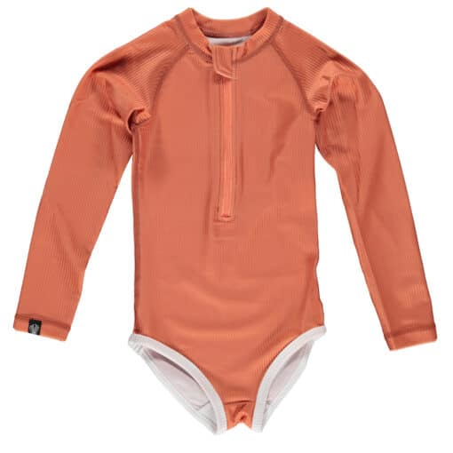 Beach & Bandits Ribbed Swimsuit Clay