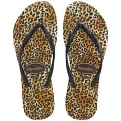 Havaianas Kids Slim Leopard Black Black