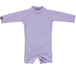 Beach & Bandits Lavender Ribbed Babysuit