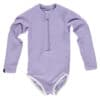 Beach & Bandits Ribbed Swimsuit Lavender