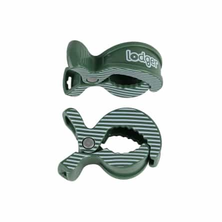 Lodger Swaddler Clip 2-pack Green Bay Stripe
