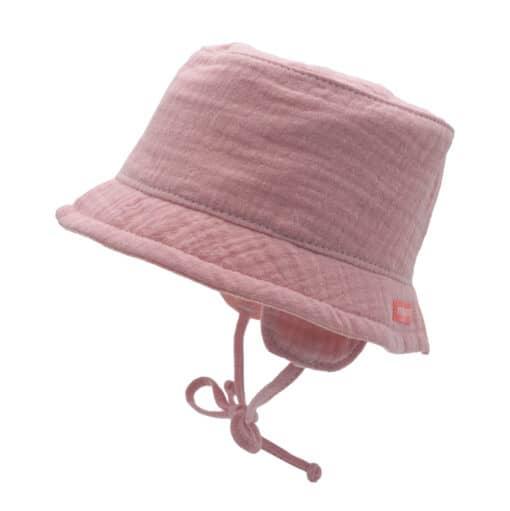 Zonnehoedje bucket hat muslin rose