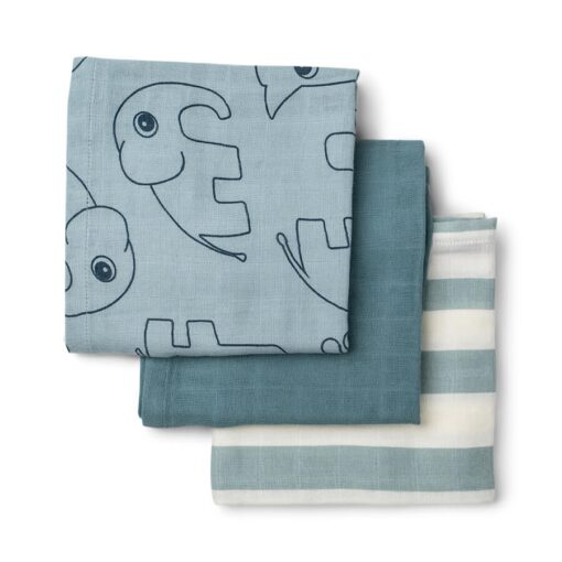 Done by Deer swaddle 3-pack Blue 70x70