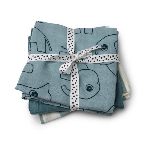 Done by Deer swaddle 3-pack Blue