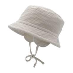 Zonnehoedje bucket hat muslin off white