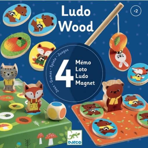 Djeco Spel Ludo Wood