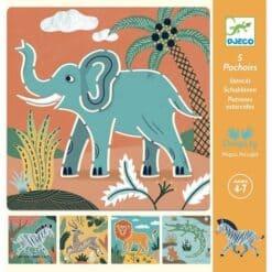 Djeco tekensjablonen Wilde dieren