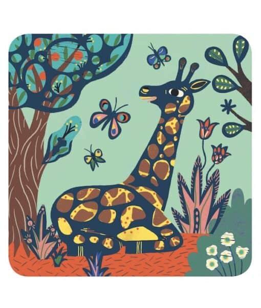 Djeco Kraskaarten Jungle Dieren