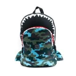 Pick & Pack Shark Shape Backpack Camo light blue M